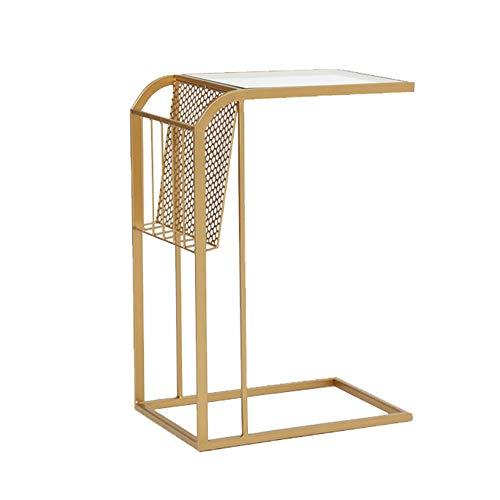 Xyanzi kaffeetische Moderne Quadratische Sofa Beistelltisch Ende Tisch Nachttisch mit Metall Ablagekorb Mobile Snack Ende Seite C Tisch Möbel für Schlafzimmer Wohnzimmer | Schlafzimmer > Nachttische | Xyanzi