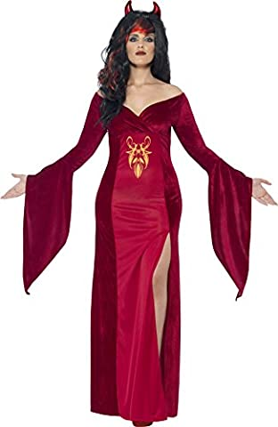Smiffy's Adult Women's Devil Costume, Dress and Horns, Legends of