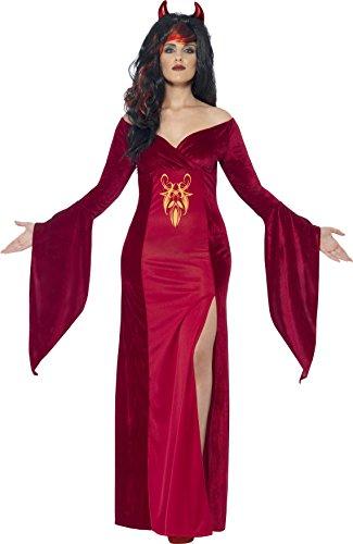 Kostüm, Kleid und Hörner, Größe: X2, 44337 (Teufels Königin Kostüme)