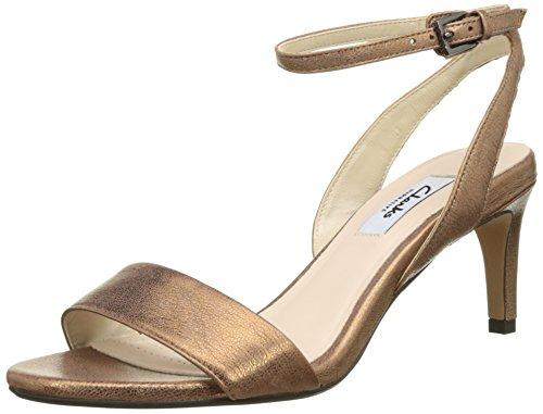 Clarks Damen Amali Jewel Slingback Sandalen mit Keilabsatz, Braun  (Bronze Leather), 42 EU
