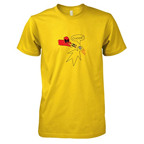 TEXLAB - Pool Zeichnung - Herren T-Shirt, Größe XXL, gelb (Marvel Now Deadpool Kostüm)