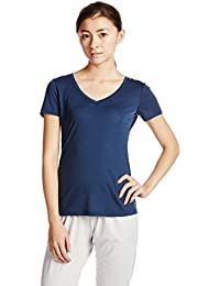 Super.Natural V-Neck 140 W Camiseta de lana merina XS ocean depp
