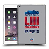 Head Case Designs Offizielle NFL New England Patriots 2 2019 Super Bowl LIII Champions Soft Gel Hülle für iPad Air 2 (2014)
