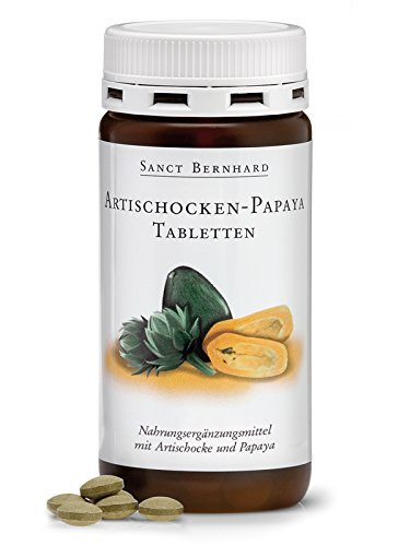 Sanct Bernhard Artischocken-Papaya-Tabletten mit mit dem Enzym Papain 160 Tabletten