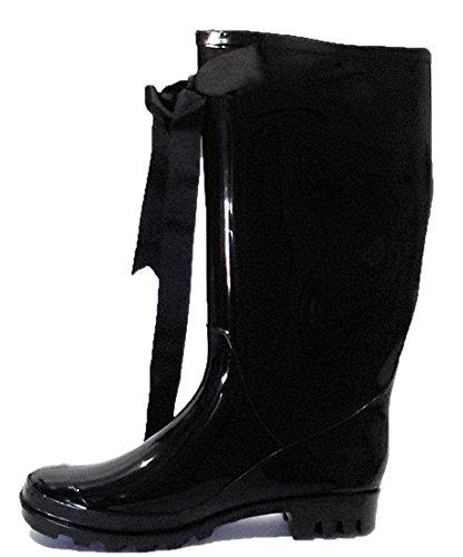 elegante-damen-gummistiefel-mit-dekorativer-schleife-regenstiefel-schwarz-lack-fur-frauen-farbe-schw