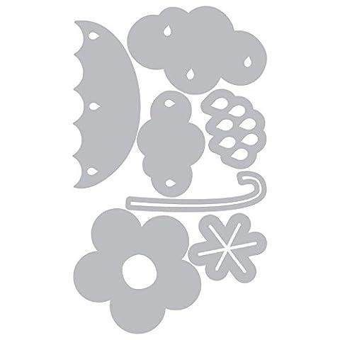 Sizzix Thinlits Die Set, Cloud, Flower, Rain and Umbrella by