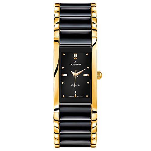 Dugena - 4460591 - Montre Homme - Quartz - Analogique - Bracelet céramique Noir