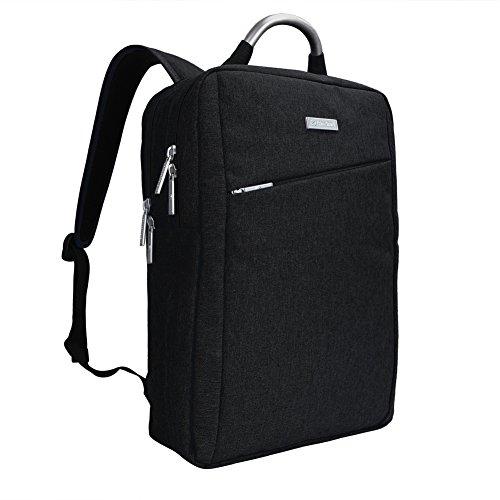 Impermeabile antiurto e leggero tessuto di Oxford 15.6 Pollici Borsa zaino del computer portatile /Messenger Bag Tablet Cartella zaino scuola (Nero)