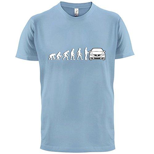 Evolution of Man - Civic Fahrer - Herren T-Shirt - 13 Farben Himmelblau
