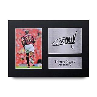 HWC Trading Thierry Henry Geschenke Unterzeichneten A4 Gedrucktes Autogramm Arsenal Druck-Foto-Bilderanzeige