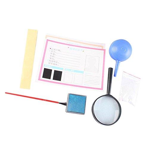 MagiDeal Fingerabdrücke Kit, DIY Wissenschaftliches Experiment Werkzeug Set pädagogisches Spielzeug für Kinder