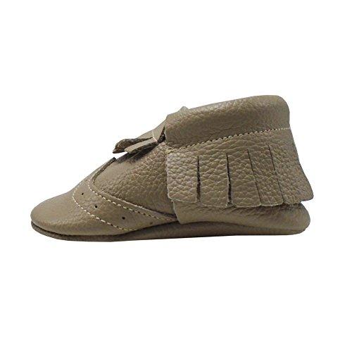 Mejale Chaussons Cuir Souple Chaussures Cuir Souple Chaussons enfants pantoufles Chaussures Premiers Pas Beige