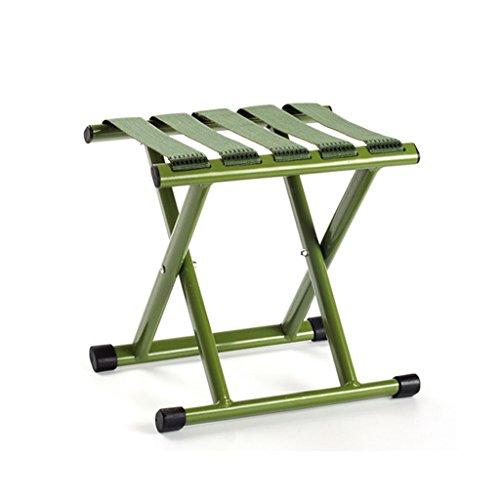Klappstuhl KKY-Enter Grüner faltender Schemel zusammenklappbarer tragbarer im Freien kampierender Picknick-Fischen-Stuhl-Starkes tragendes langlebiges Gut (größe : L29.5*W25.5*H33cm)