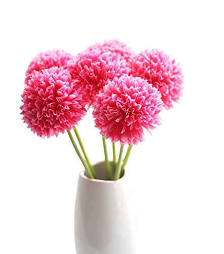 itemer 3pcs pequeña bola de Hortensia Falsa flores de seda Artificial ramo de flores para casa jardín balcón decoración