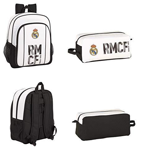 Real Madrid, Mochila + Zapatillero. Oficial. Mochila