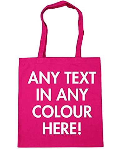HippoWarehouse personalised any colour text Tote Shopping Gym Beach Bag 42cm x38cm, 10 litres