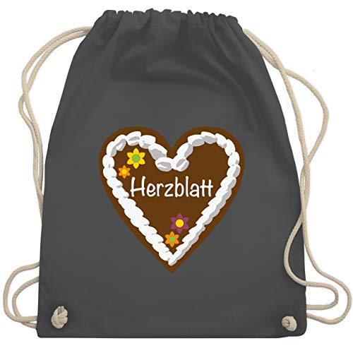 chenherz Herzblatt - Unisize - Dunkelgrau - WM110 - Turnbeutel & Gym Bag ()