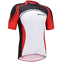 Childrens Triomphe Short Sleeve Cycling Jersey - Red/White - 15-16