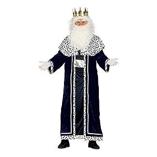 Guirca- Disfraz Rey Mago Melchor para adulto, Color negro, talla L (42400.0)