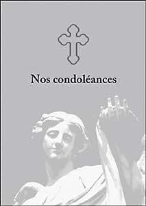 Lot de 5 cartes condoléances: Nos condoléances - carte de deuil, carte condoléances, carte de voeux réconfortante le chagrin avec un ange et croix