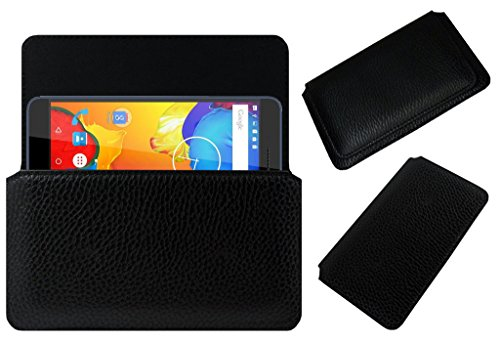 ACM Horizontal Case for Xolo Era 4k Mobile Leather Cover Black