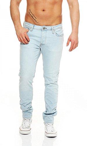 JACK & JONES - TIM ORIGINAL - Slim Fit - Herren Jeans, Farbe:Light Blue;Hosengröße:W34/L30 (Elasthan Geprägte Jeans)