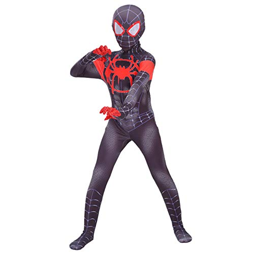 Kostüm Up Weibliche Dress - DSFGHE Kinder Spiderman Kostüm Cosplay Siamesische Strumpfhose Parallel Universum Set Erwachsene Maskerade Geburtstagsparty Dress Up Dress,B[100-109CM]