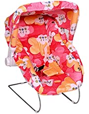 Mini Globe Multipurpose 10 in 1 Baby Carry Cot/Baby Bouncer with Mosquito Net and Sun Shade (Pink)