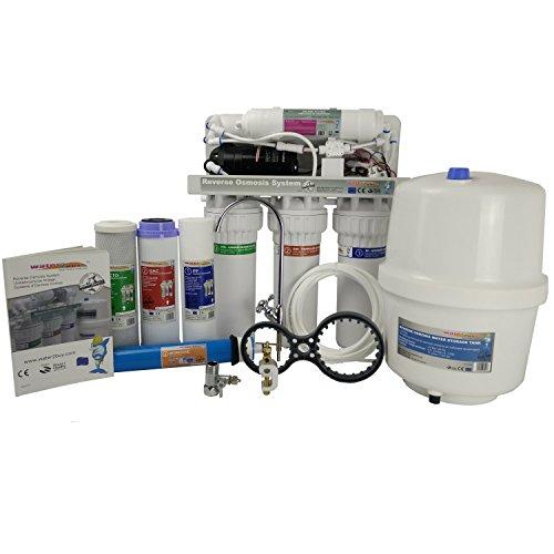 Water2buy - Filtro per l'acqua con sistema a osmosi inversa RO600 a 5 stadi, con pom