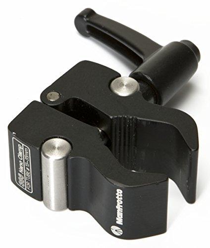Manfrotto 386B-1 Nano-Clamp mit Kerbe für Verdehschutz Manfrotto Mini Clamp