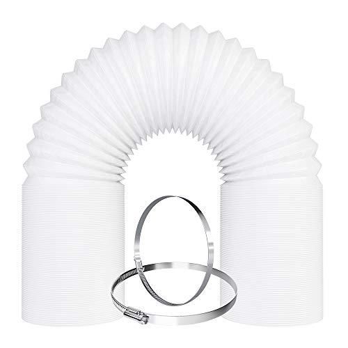 VIOKS Abluftschlauch 4 Meter / 100mm PVC Schlauch flexibel inkl. 2 Schellen für Klimaanlage, Abzugshaube, Wäschetrockner