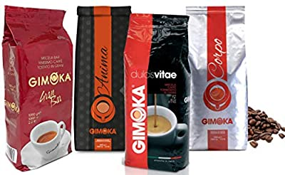 4 x 1kg Coffee Beans Tasting Selection Gimoka by Gimoka
