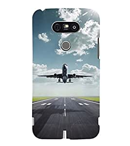 TAKE OFF VIEW OF AN AIRCRAFT 3D Hard Polycarbonate Designer Back Case Cover for LG G5:LG G5 Dual H860N with dual-SIM card slots