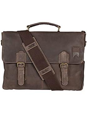 Navali Navigator Laptop Messenger Bag Umhängetasche Notebooktasche im Vintage-Look - für Laptops bis 15 Zoll -...