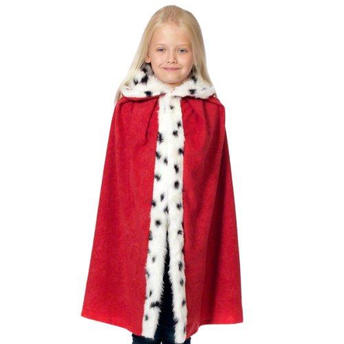 Königin Kostüm Karneval Und König - Unbekannt Charlie Crow Roter König und Königin Kostüm für Kinder. Einheitsgröße 3-8 Jahre.