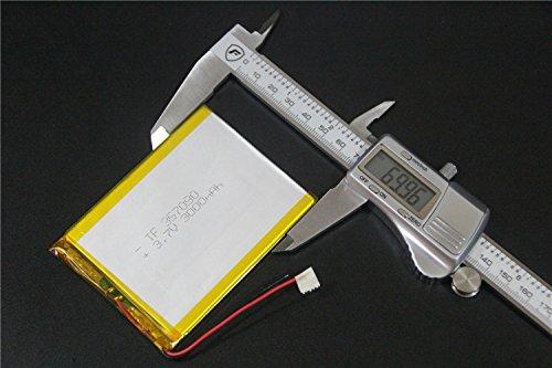 SUNKEE 3.7V Batteria Ai Polimeri(Batteria Al Litio) 5357090 3000mAh Con PCM Ricaricabile Per Tablet