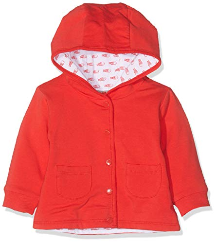 Kanz Unisex Baby 1/1 Arm m. Kapuze Sweatjacke, Rot (Flame Scarlet|Red 2550), 92