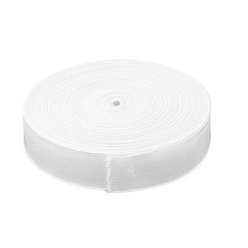 sourcingmap Polyester Nähen Werkzeug keucht dehnbares Gummiband Seil Weiß 32 Yards x 1,4Inch (1 2-zoll-seil-licht)