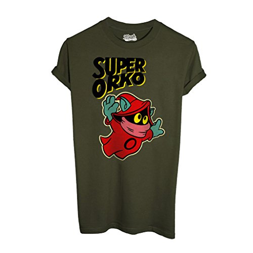 T-Shirt ORKO HE-MAN-MASTER OF THE UNIVERSE - CARTOON by iMage Dress Your Style - Uomo-L-VERDE MILITARE