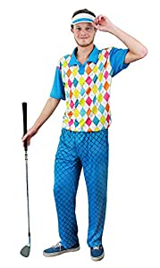 I Love Fancy Dress ILFD4527M - Disfraz de Golfista para Hombre (Talla Mediana)