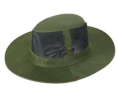AOTU Unisex Sonnenhut UV-Schutz Sommerschirm Outdoor Sonnenmütze mit Kinnband Mesh Buschhut Camping Wandern Angeln