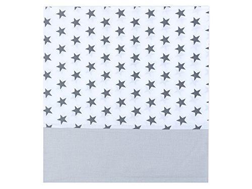 Force Kids d'allaitement Chiffon Uni Gris/petites étoiles Gris sur blanc