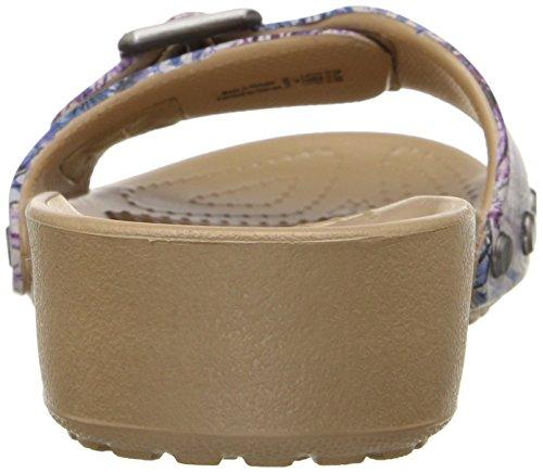 Crocs Sarah Graphic Flat Sandal Femmes Multi/White
