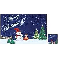 BESTOYARD Decoración de la Mesa de la Fiesta de los Posavasos de la Taza de la Navidad para el Restaurante de la Cocina de casa (Night Snowman)