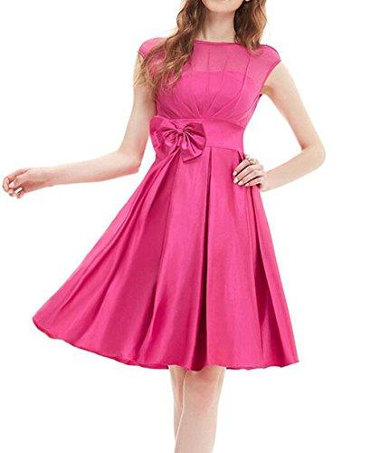 Jc.Kube Damen Cocktailkleid Vintage Kleid Abendkleid Partykleid Rose