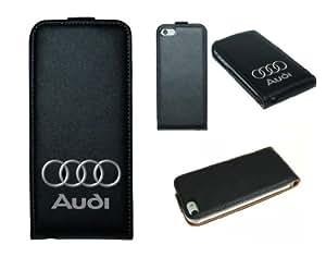 iPhone 5 Etui en cuir design imprime Audi
