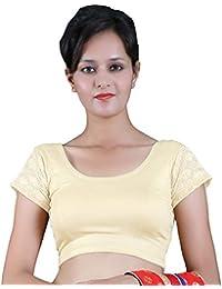 985937d15f808 RB Creation Women s Lycra Back Net Designer Short Sleeve stretchable Blouse