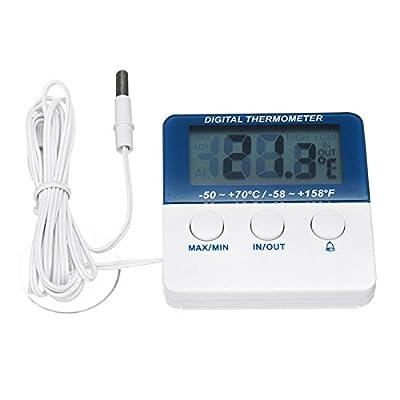 WTTTTW Aquarium-Thermometer, LCD-Digital-Thermometer für Glasbehälter, Aquarien und Tierterrien