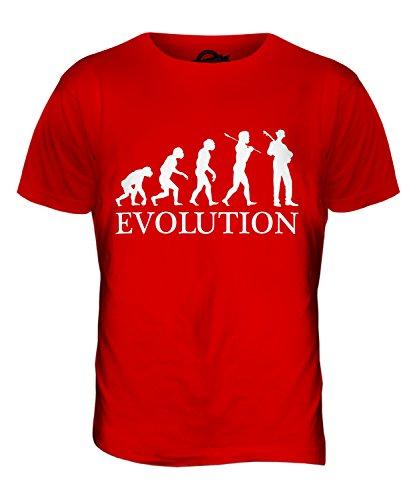 CandyMix Jazz Gitarre Evolution Des Menschen Herren T Shirt Rot