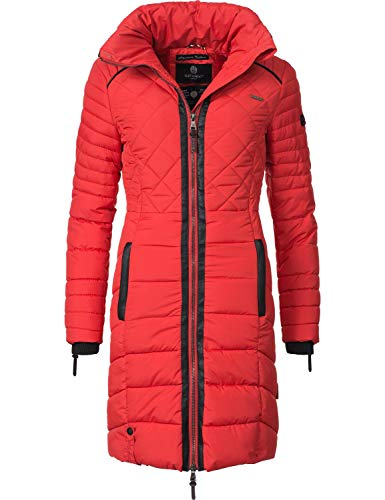 Navahoo Damen Winter-Mantel Steppmantel Ronin Rot Gr. XL